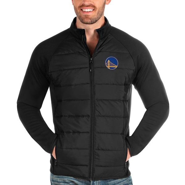 アンティグア メンズ ジャケット&ブルゾン アウター Golden State Warriors Antigua Altitude Full-Zip Jacket Black