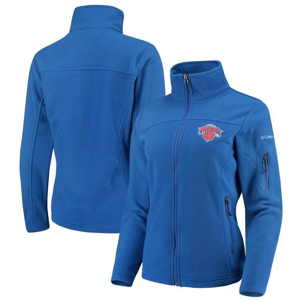 コロンビア レディース ジャケット&ブルゾン アウター New York Knicks Columbia Women's Give & Go Full-Zip Jacket Blue