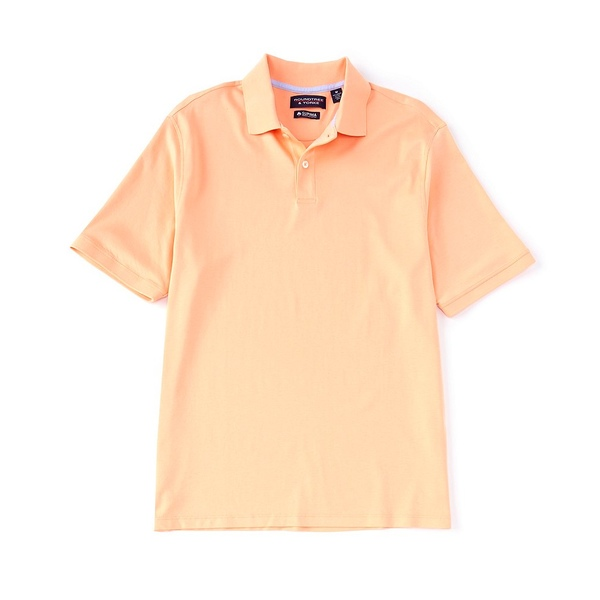 ランドツリーアンドヨーク メンズ ポロシャツ トップス Short-Sleeve Supima Solid Polo Peach