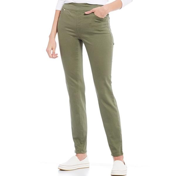 ウェストボンド レディース カジュアルパンツ ボトムス Petite Size the HIGH RISE fit Skinny Pants Deep Lichen Green