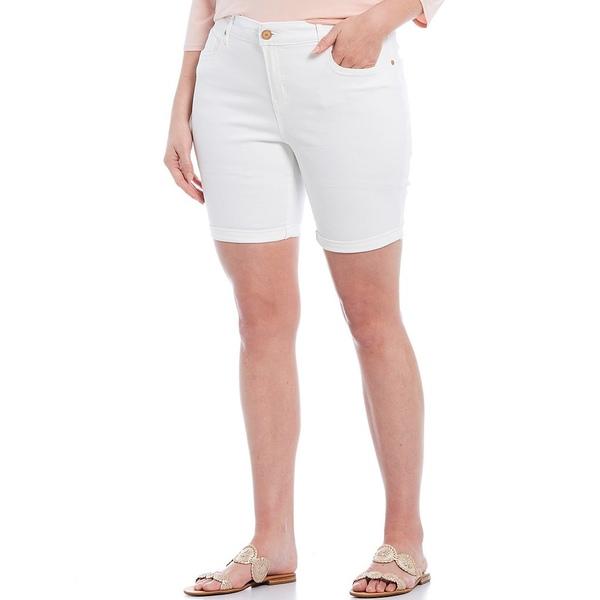 コードブリュー レディース カジュアルパンツ ボトムス Plus Size Classic Bermuda Short Bright White