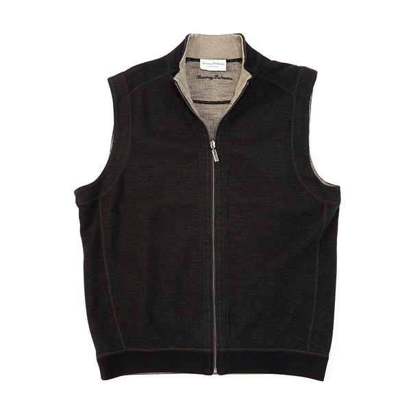 トッミーバハマ メンズ ニット&セーター アウター New Flipsider Full-Zip Vest Midnight Oil