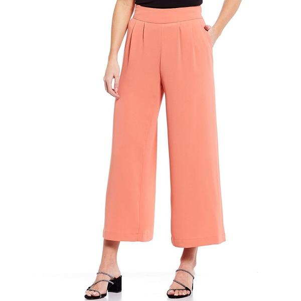 ワンステート レディース カジュアルパンツ ボトムス Crepe Wide Leg Cropped Pants Romantic Apricot