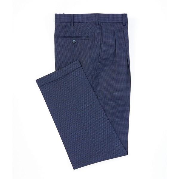 ランドツリーアンドヨーク メンズ カジュアルパンツ ボトムス TravelSmart Fancy Pattern Pleated Dress Pants Blue