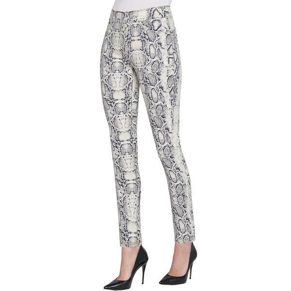 ピーターニガード レディース デニムパンツ ボトムス SLIMS Luxe Denim Snake Skin Print Skinny Ankle Jeans Yellow/Snake