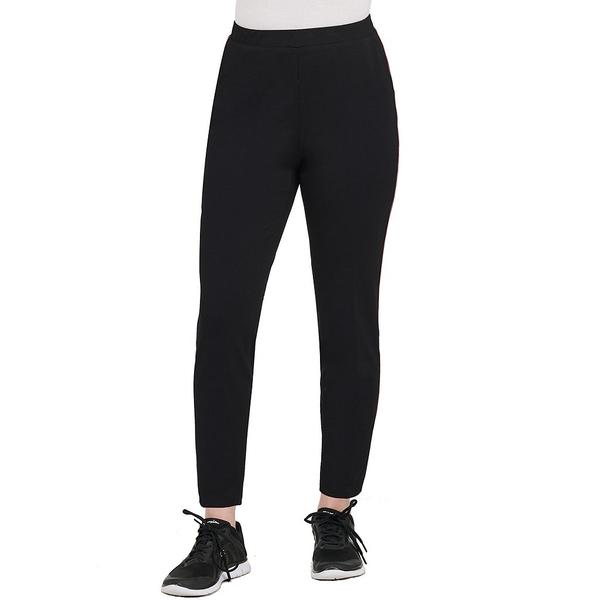 アリソンダーレイ レディース カジュアルパンツ ボトムス San Remo Knit Piping Seam Detail Pull-On Ankle Pants Black