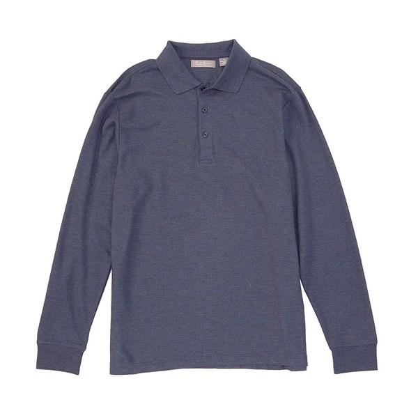 クレミュ メンズ ポロシャツ トップス Daniel Cremieux Signature Luxury Pique Long-Sleeve Polo Shirt Dark Blue Heather