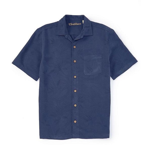 カリビーン メンズ シャツ トップス Bird of Paradise Short-Sleeve Woven Shirt Cobalt
