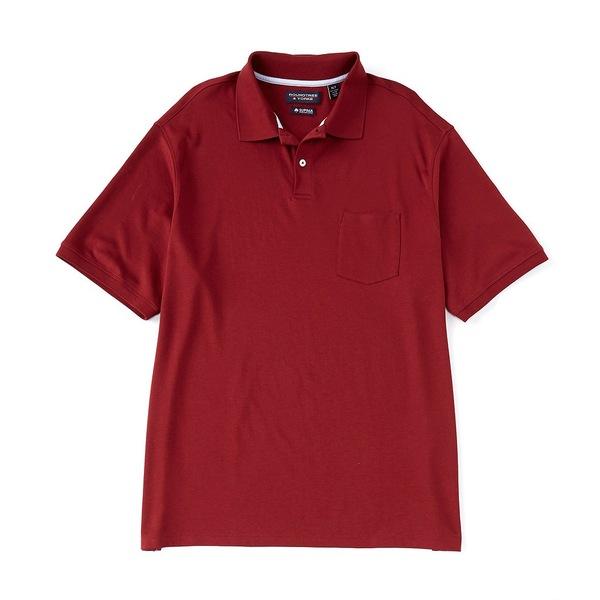 ランドツリーアンドヨーク メンズ シャツ トップス Big & Tall Short-Sleeve Supima Solid Polo Red