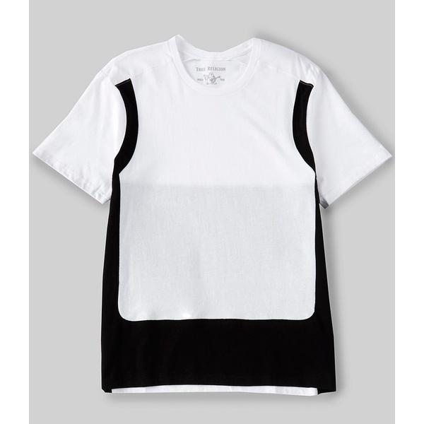 トゥルーレリジョン メンズ Tシャツ トップス Short-Sleeve Tailored Tee White/Black