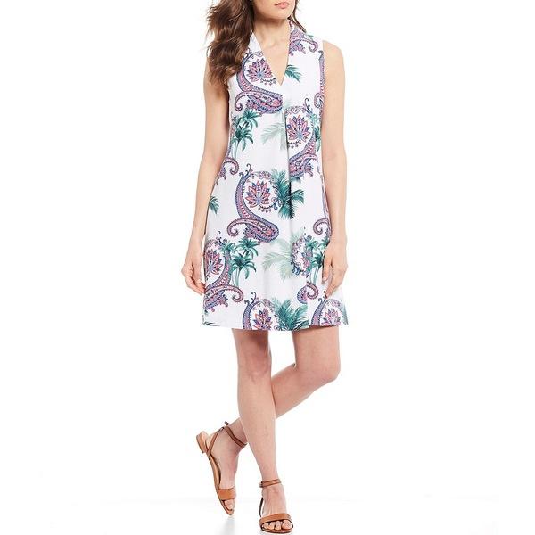 トッミーバハマ レディース ワンピース トップス Bombaisley Print Linen Blend Shift Dress Coconut