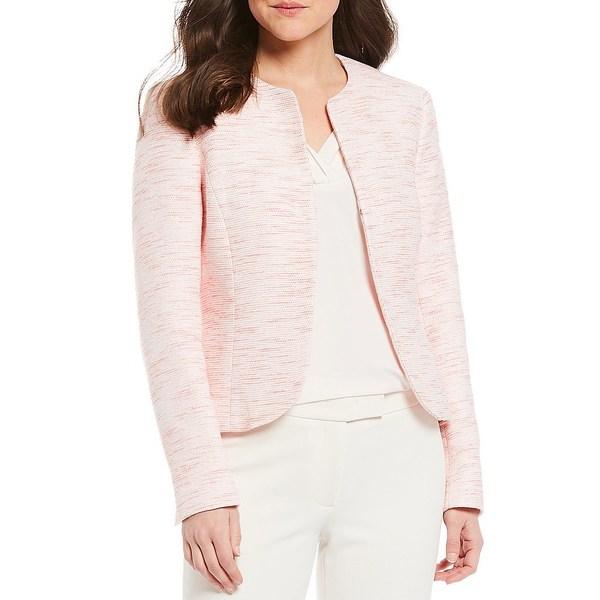 アンクライン レディース ジャケット&ブルゾン アウター Tweed Open Front Collarless Tulip Jacket Cherry Blossom/Anne White
