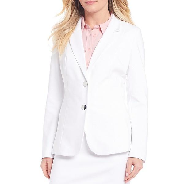 インベストメンツ レディース ジャケット&ブルゾン アウター Elite Stretch Long Sleeve Blazer White