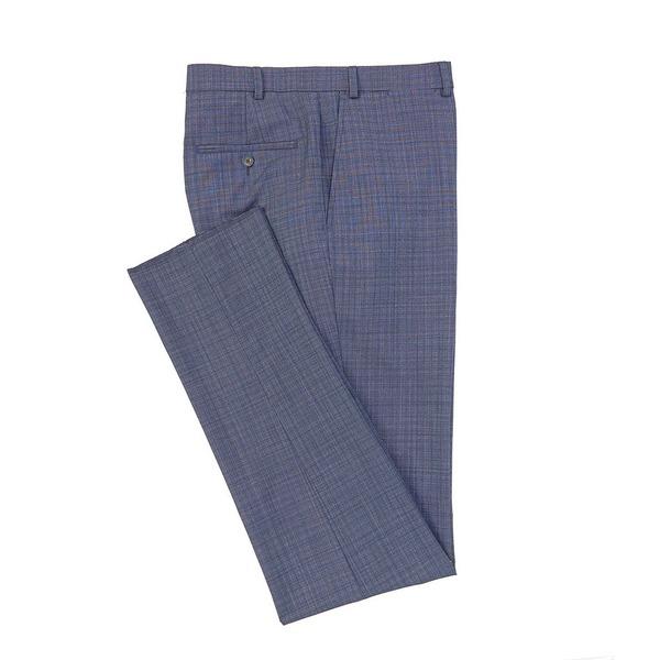 ハートシャファネールマークス メンズ カジュアルパンツ ボトムス Tailored Modern Fit Flat Front Fancy Blue Dress Pants Blue
