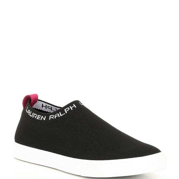 ラルフローレン レディース スニーカー シューズ Jordyn Signature Logo Fly Knit Sneakers Black