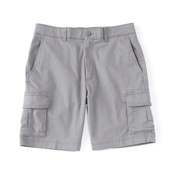 ランドツリーアンドヨーク メンズ ハーフ&ショーツ ボトムス Big & Tall 9#double; and 11#double; Inseams Washed Cargo Shorts Medium Gray