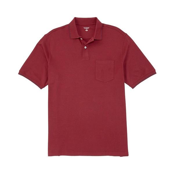 ランドツリーアンドヨーク メンズ ポロシャツ トップス Short-Sleeve Solid Pocket Polo Merlot