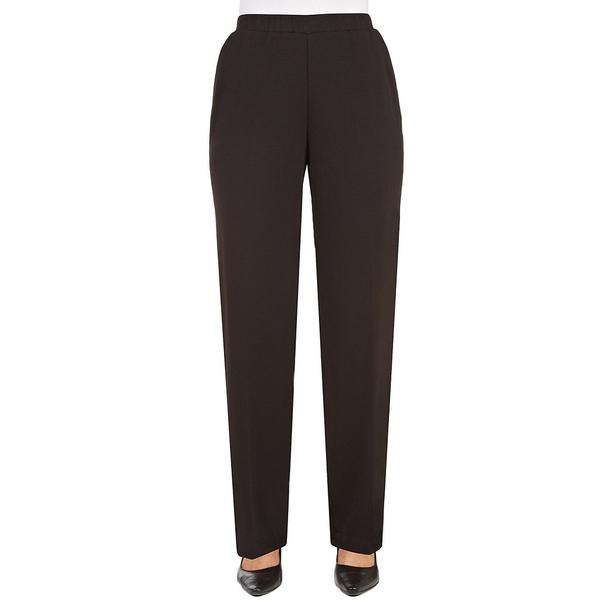 アリソンダーレイ レディース カジュアルパンツ ボトムス Petite Size Pull-On Straight Leg San Rimo Knit Pant Black