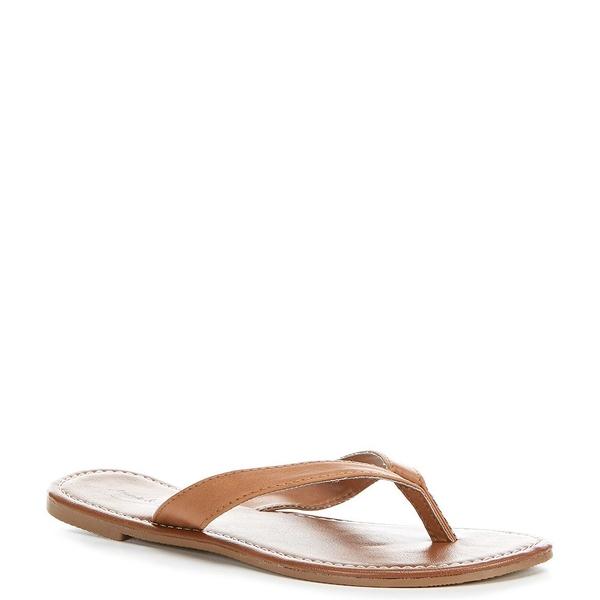アンナ&アヴァ レディース サンダル シューズ Wide Strap Flip Flop Sandals Chestnut