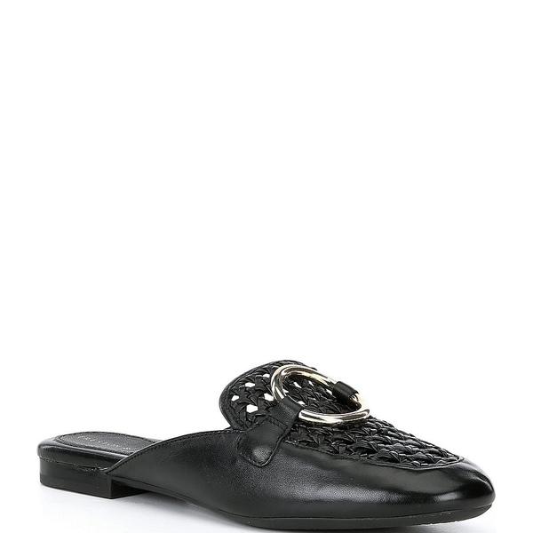 プレストンアンドヨーク レディース サンダル シューズ Dakota Woven Leather Mules Black