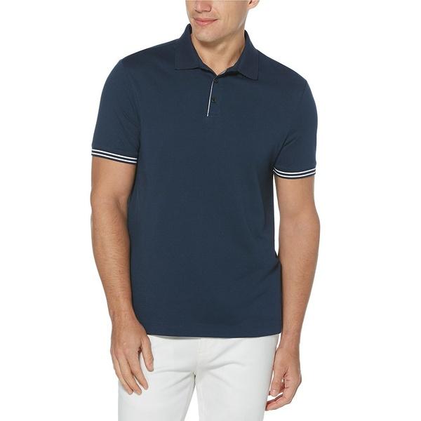 ペリーエリス メンズ シャツ トップス Big & Tall Iconic Performance Stretch Short-Sleeve Polo Shirt Ink