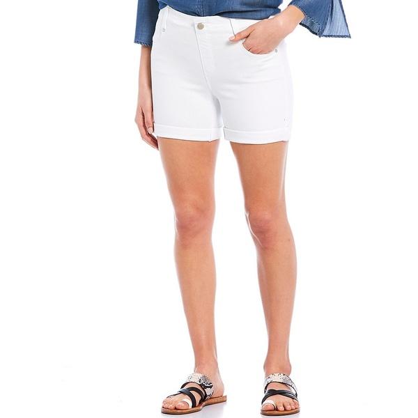 リバプールジーンズ レディース カジュアルパンツ ボトムス Gia Glider Pull-On Rolled Cuff Shorts Bright White