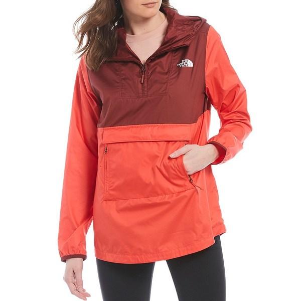 ノースフェイス レディース ジャケット&ブルゾン アウター Colorblock Rain Resistant Fanorak 2.0 Barolo Red