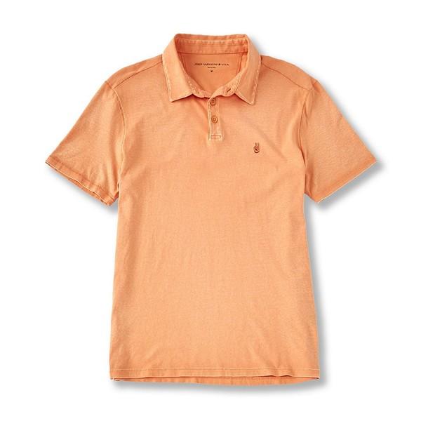 ジョンバルベイトス メンズ ポロシャツ トップス Star USA Knoxville Pigment Rub Short-Sleeve Polo Shirt Citrus