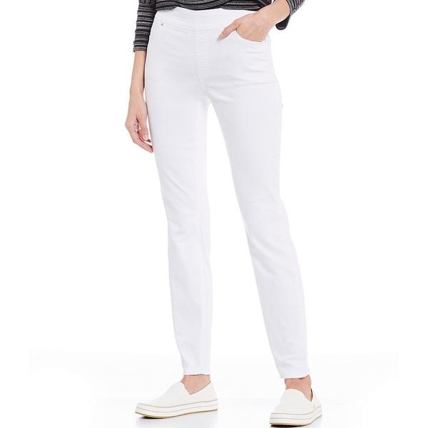 ウェストボンド レディース カジュアルパンツ ボトムス Petite Size the HIGH RISE fit Skinny Pants White