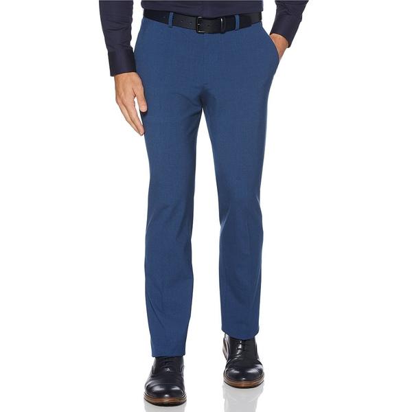 ペリーエリス メンズ カジュアルパンツ ボトムス Big & Tall Solid Wrinkle-Resistant Performance Stretch Suit Separates Washable Pants Bay Blue