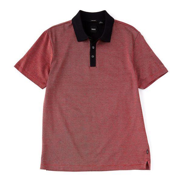 ヒューゴボス メンズ ポロシャツ トップス BOSS Piket Short-Sleeve Polo Shirt Red