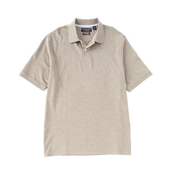 ランドツリーアンドヨーク メンズ ポロシャツ トップス Short-Sleeve Supima Solid Polo Khaki Heather