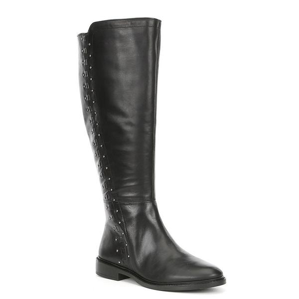 ジアーニビニ レディース ブーツ&レインブーツ シューズ Clessina Leather Tall Block Heel Boots Black
