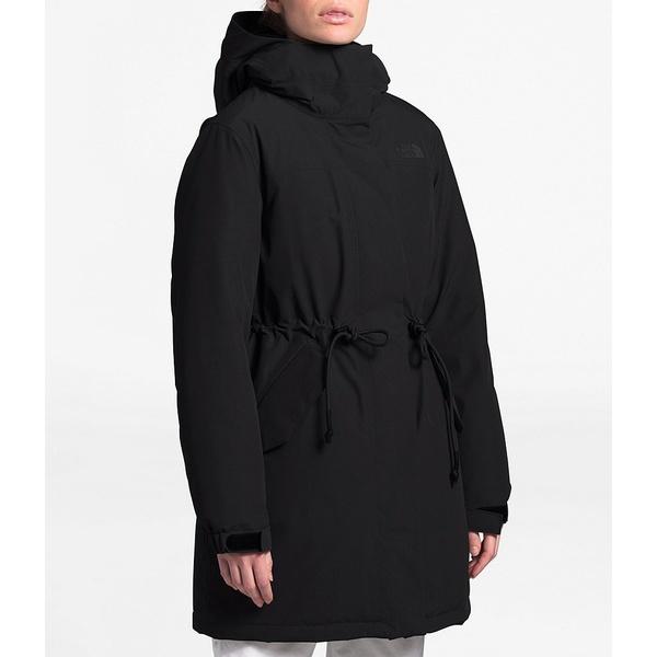 ノースフェイス レディース コート アウター Metroview Trench Water Repellent Windproof Raincoat TNF Black
