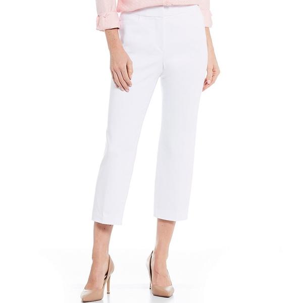 インベストメンツ レディース カジュアルパンツ ボトムス Petite Size the 5th AVE fit Elite Stretch Crop Pant White