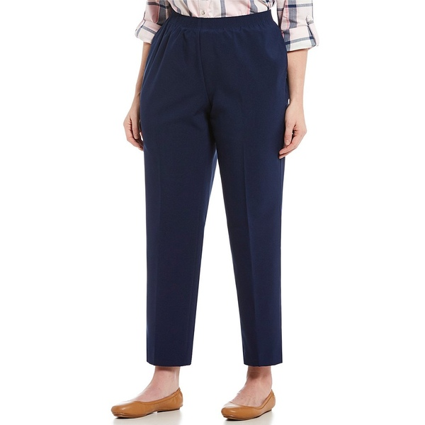 アリソンダーレイ レディース カジュアルパンツ ボトムス Plus Size Tapered Leg Pull-On Pants Navy