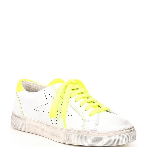 スティーブ マデン レディース スニーカー シューズ Steven by Steve Madden Rezza Neon Accent Leather Sneakers Yellow Neon