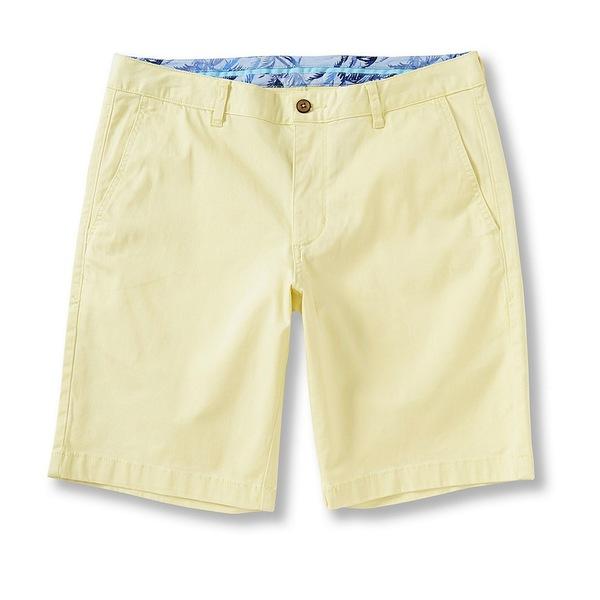 トッミーバハマ メンズ ハーフ&ショーツ ボトムス Flat-Front Straight-Fit Stretch Sateen 10#double; Inseam Boracay Shorts Light Lemonade