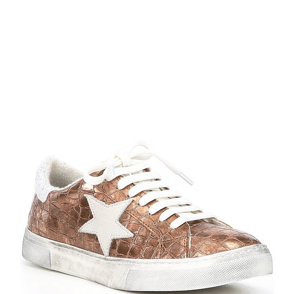 スティーブ マデン レディース スニーカー シューズ Steven by Steve Madden Rubie Croc Embossed Star Sneakers Copper Croc