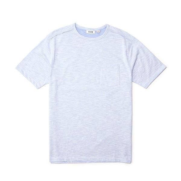 ロウン メンズ Tシャツ トップス Short-Sleeve Solid Slub Crew White