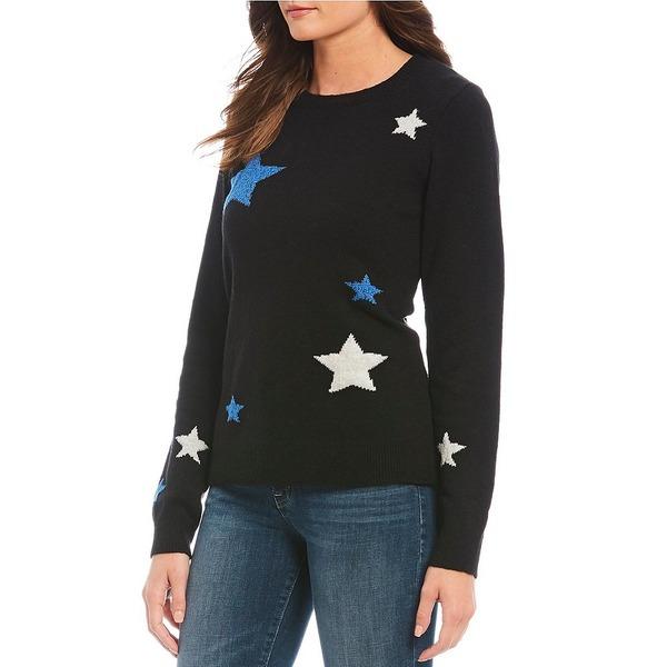 ラッキーブランド レディース ニット&セーター アウター Star Print Crew Neck Pullover Black
