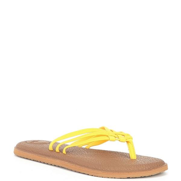 サヌーク レディース サンダル シューズ Yoga Salty Woven Thong Sandals Golden Rod