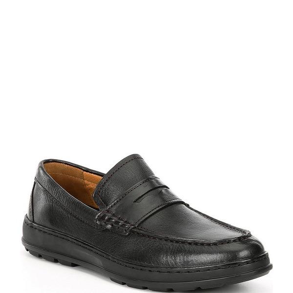 コールハーン メンズ スニーカー シューズ Men's Hamlin Leather Penny Loafers Black