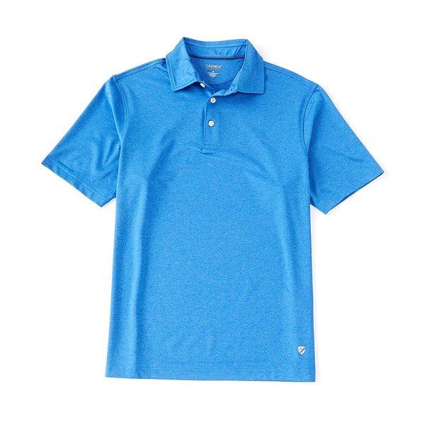 クレミュ メンズ ポロシャツ トップス Performance Solid Heather Short-Sleeve Polo Shirt Nautical