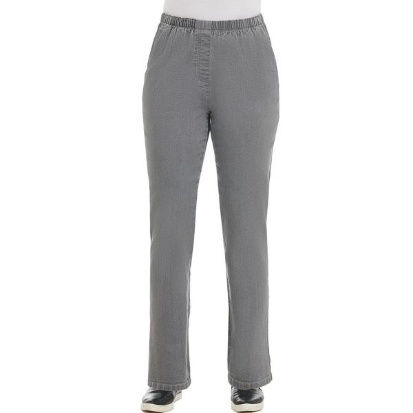 アリソンダーレイ レディース カジュアルパンツ ボトムス Petite Size Stretch Denim Pull-On Modern Straight Leg Pants Light Grey Wash