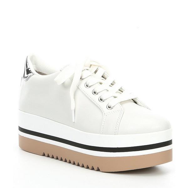 スティーブ マデン レディース スニーカー シューズ Alley Lace-Up Platform Sneakers White