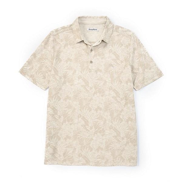 トッミーバハマ メンズ ポロシャツ トップス Palmetto Palms Short-Sleeve Polo Shirt Coconut Cream