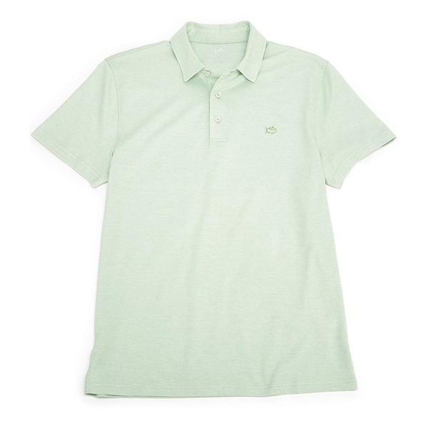 サウザーンタイド メンズ ポロシャツ トップス Pecan Grove Jacquared Short-Sleeve Polo Shirt Green Tea