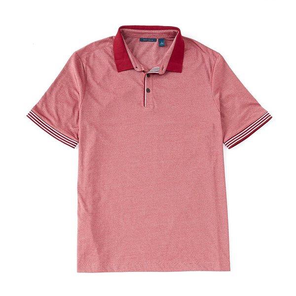 ペリーエリス メンズ シャツ トップス Big & Tall End-On-End Icon Short-Sleeve Polo Shirt Rhubarb