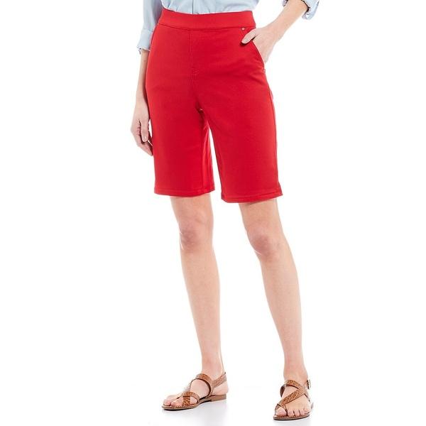イントロ レディース カジュアルパンツ ボトムス Rose Tummy Control Pull-On Power Stretch Bermuda Shorts Scarlet Ruby